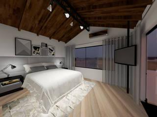 Cláudia Legonde Modern style bedroom Wood White