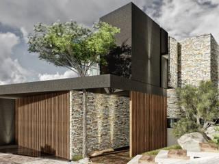 Casa TA-OP: Casas de estilo  por BAGNUS ARQUITECTO