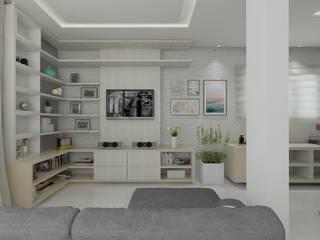 Sala de Estar -  Clean: Salas de estar  por Janaira Morr & Rachel Maia