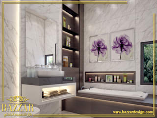 تصميم حمامات:   تنفيذ Bazzar Design