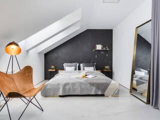 Penthouse 197 w Gdańsku: styl , w kategorii Sypialnia zaprojektowany przez studiolighthouse.pl - fotografia wnętrz