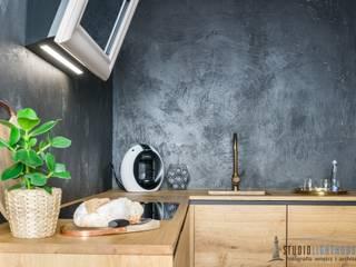 Penthouse 197 w Gdańsku: styl , w kategorii Kuchnia zaprojektowany przez studiolighthouse.pl - fotografia wnętrz