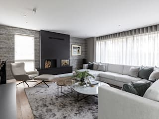 Contemporary Cambridge Townhouse Classic style living room by Sara Slade Interiors Classic