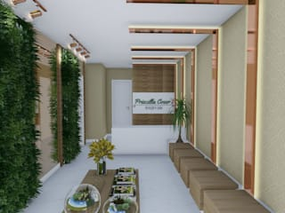 Studio² Modern corridor, hallway & stairs