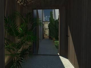 Residência 71: Corredores e halls de entrada  por STUDIO CESAR BORSOI
