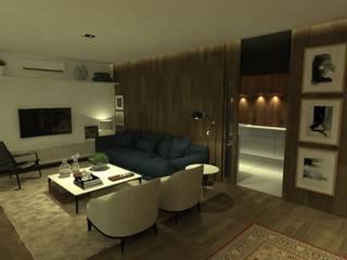 Apartamento Ibéria: Salas de estar  por STUDIO CESAR BORSOI