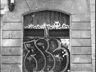 Reforma del local Orbita teràpia conservando el estado original del edificio en Barcelona Oficinas y tiendas de estilo industrial de projectelab Industrial