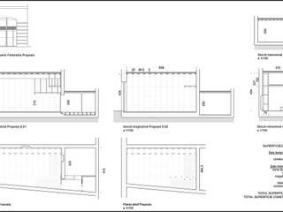 Planos: Oficinas y Tiendas de estilo  de projectelab