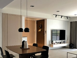 清晨的萊特-老屋翻新變身現代簡約居所 根據 酒窩設計 Dimple Interior Design 現代風