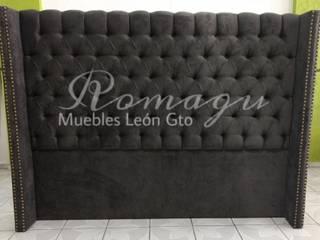 Cabeceras de cama Capitonado ROMAGU MUEBLES RecámarasCamas y cabeceras Textil Gris