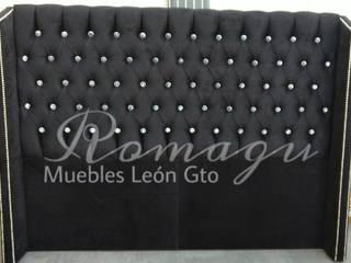 Cabeceras de cama Capitonado ROMAGU MUEBLES RecámarasCamas y cabeceras Textil Negro
