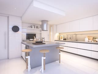 Apartamento Paço de Arcos: Cozinhas modernas por DV Arquitecto