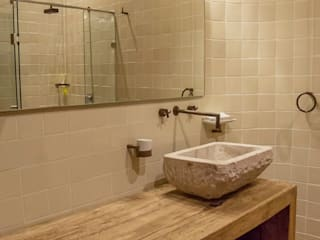 Casa IC: Baños de estilo  por Taller de Arquitectura Bioclimática +3d