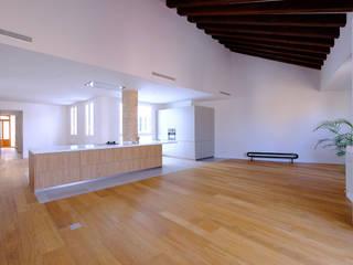 Reforma de vivienda Unifamiliar Cocinas de estilo moderno de BHB arquitectura Moderno