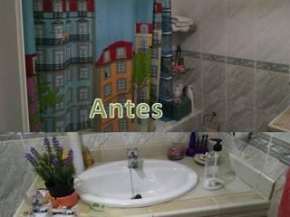 Estado inicial del cuarto de baño:  de estilo  de CONSUELO TORRES