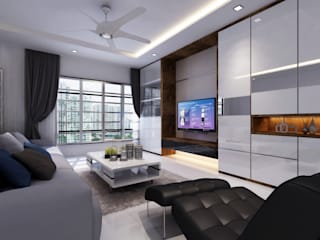 Salas modernas de March Atelier Moderno