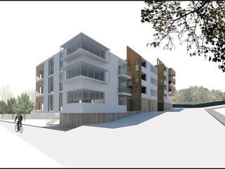 Construcción de vivienda multifamiliar en Arenys de Mar, Edificaciones de arquitectura residencial: Casas multifamiliares de estilo  de projectelab