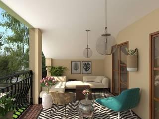 Disfruta de tu rincón exterior: Terrazas de estilo  de Glancing EYE - Asesoramiento y decoración en diseños 3D , Moderno