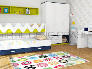 Dormitorios infantiles de estilo  por Tırtıl Genç ve Çocuk Odası