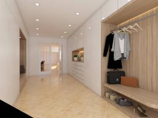 DR Arquitectos Minimalist dressing room