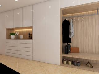 Minimalist corridor, hallway & stairs by DR Arquitectos Minimalist