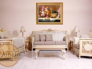 SALA REINA ANA:  de estilo  por muebles de calidad doneto