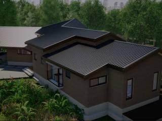Vista Fachada Sur: Chalets de estilo  por Nomade Arquitectura y Construcción spa
