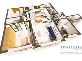 [30평]단 하나뿐인 나만의 공간 홈 인테리어 양재동파크사이드의 풀스토리 by 범블비디자인 30평대인테리어 by 범블비디자인