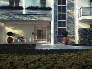Portico d'ingresso: Condominio in stile  di Studio Corbetta architettura e design