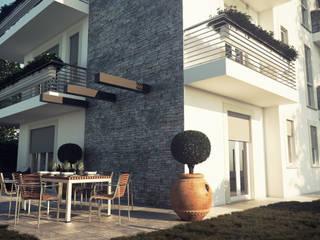Prospetto Sud: Condominio in stile  di Studio Corbetta architettura e design