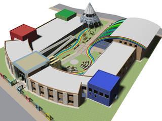 Centro de día para niños especiales: Escuelas de estilo  por Arquitecto Manuel Daniel Vilte