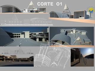 Corte: Escuelas de estilo  por Arquitecto Manuel Daniel Vilte