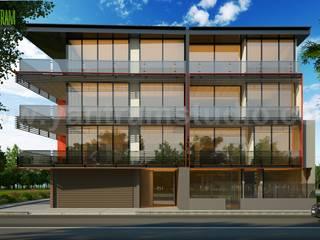 Commercial Building Exterior Design Ideas by Yantram Architectural Visualization Company - San Diego, USA Modern Evler Yantram Architectural Design Studio Modern