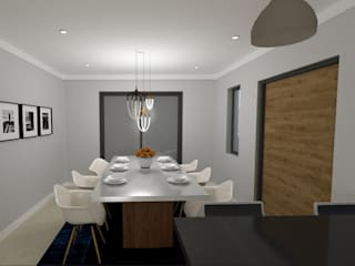 Bergbron Addition Modern dining room by A4AC Architects Modern