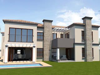 A4AC Architects Detached home Stone Multicolored