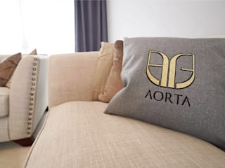 The Modern Living Room : modern Living room by Aorta the heart of art