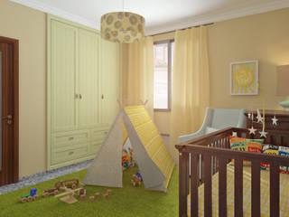Habitación de bebé Dormitorios infantiles de estilo clásico de Glancing EYE - Asesoramiento y decoración en diseños 3D Clásico