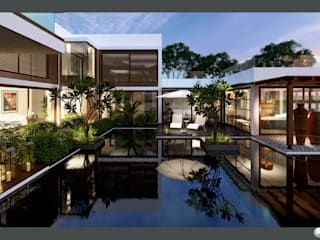 Exterior 3D Still Rendering - Residential Projects:  Patios & Decks by MI Studio LLP