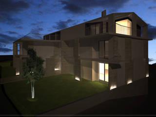 ad Vicum Case in stile mediterraneo di mera architetti Mediterraneo