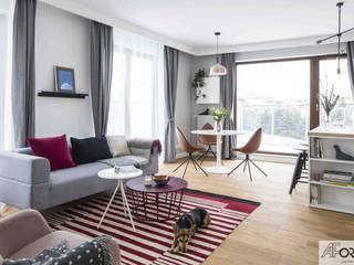 Livings de estilo moderno de AFormA Architektura wnętrz Anna Fodemska Moderno