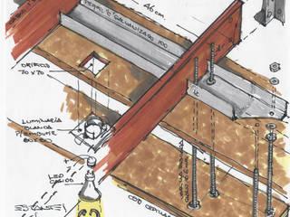 Diseño de estantes colgantes :  de estilo  por estudioZBR & asociados