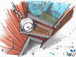 Croquis estudio toilette:  de estilo  por estudioZBR & asociados