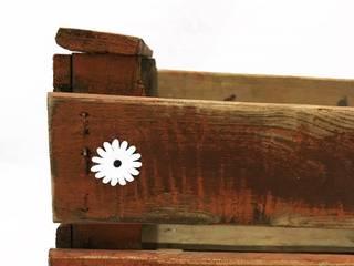 "Caja antigua de madera ""Orange Oxid"" | de REinventa12 Rural"
