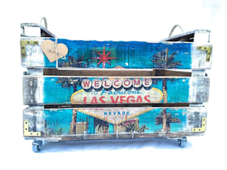 "Caja antigua de madera ""Las Vegas"" | de REinventa12"