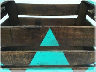 "Caja antigua de madera ""Norge Turquoise"" | de REinventa12 Escandinavo"