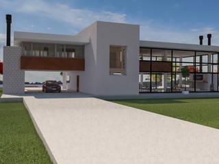 Panoramica de acceso: Casas de estilo moderno por DUSINSKY S.A.