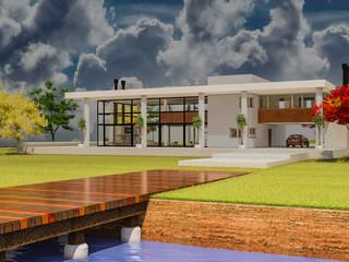 Panorámica desde la laguna: Casas de estilo moderno por DUSINSKY S.A.
