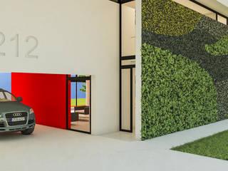 Acceso + Muro verde: Casas unifamiliares de estilo  por DUSINSKY S.A.