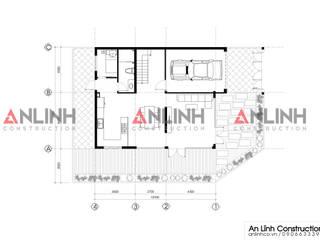 Mẫu biệt thự phố đẹp, công trình Nguyễn Văn Tiến bởi CÔNG TY THIẾT KẾ XÂY DỰNG AN LĨNH