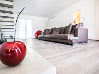 Magri Parquet Modern Living Room Wood Grey